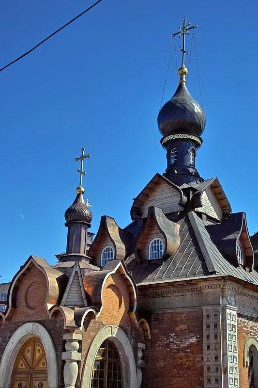 Александров. Восстановленная церковь Серафима Саровского у вокзала, Александров