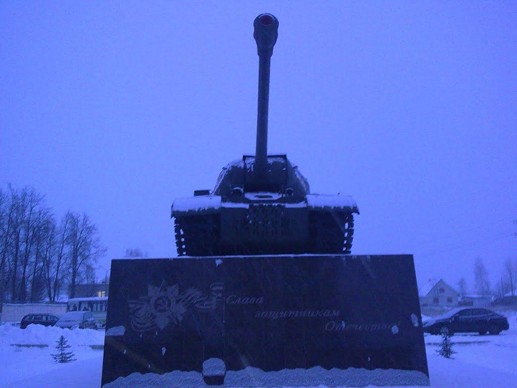 Танк зимой., Ковров