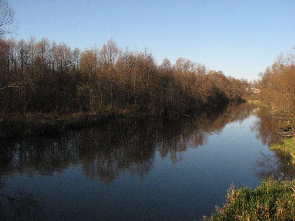 Вид на Реку Унжу с Фабричного моста (The Unzha River. A view from the Factory bridge), Меленки