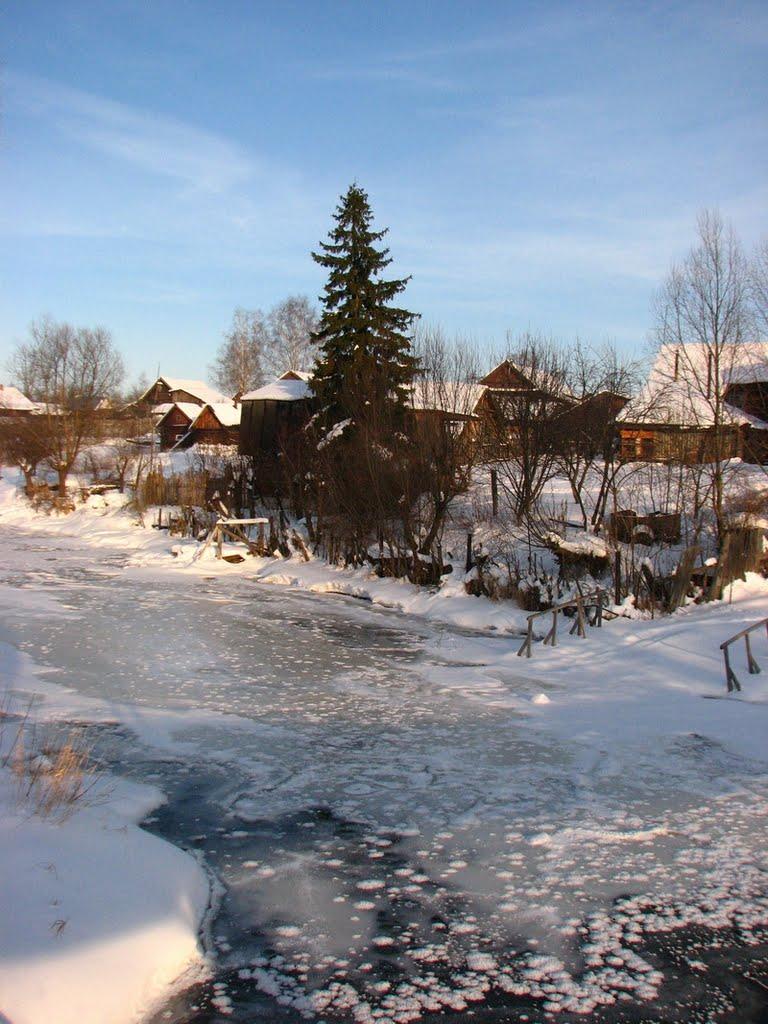 Зима на Реке Унже (Winter at the Unzha River), Меленки