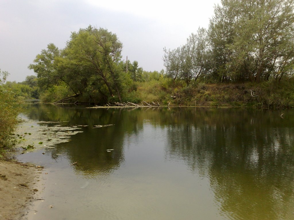 am Fluss Ilovlja, Алущевск
