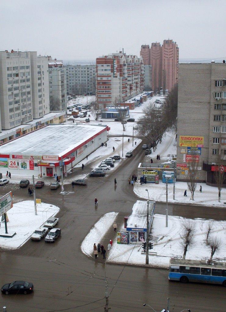 Перекрёсток Н.Отрады (фев 09), Алущевск
