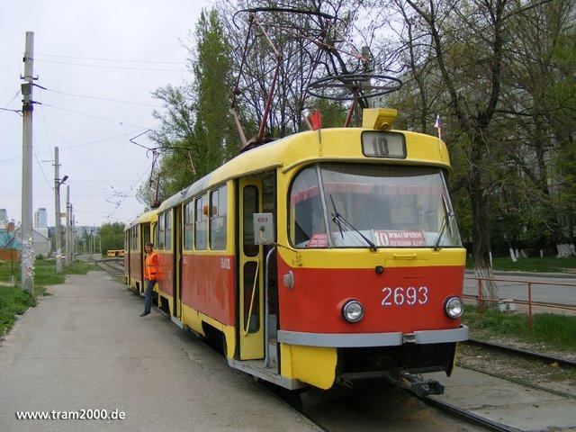 "T3SU-Zug an der Wendeschleife ""Zhilgorodok"", Алущевск"
