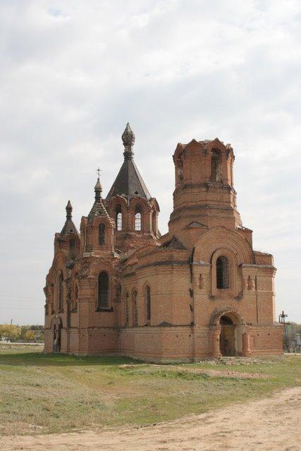 Храм Николая Чудотворца в станице Голубинская, разрушен во время войны, Алущевск