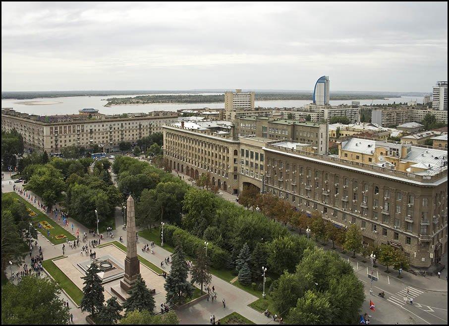 Панорама города Волгограда, Волгоград