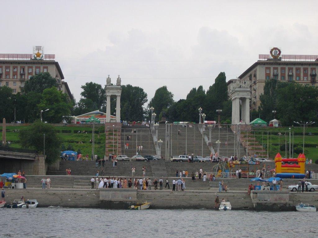 die Treppen am Ufer - ступенки, Волгоград
