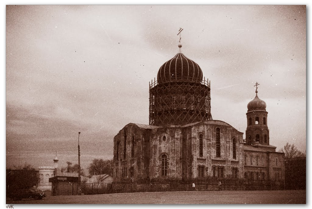 The Temple under reconstruction, Gorodishe, Volgograd region, Russia May 2011, Городище