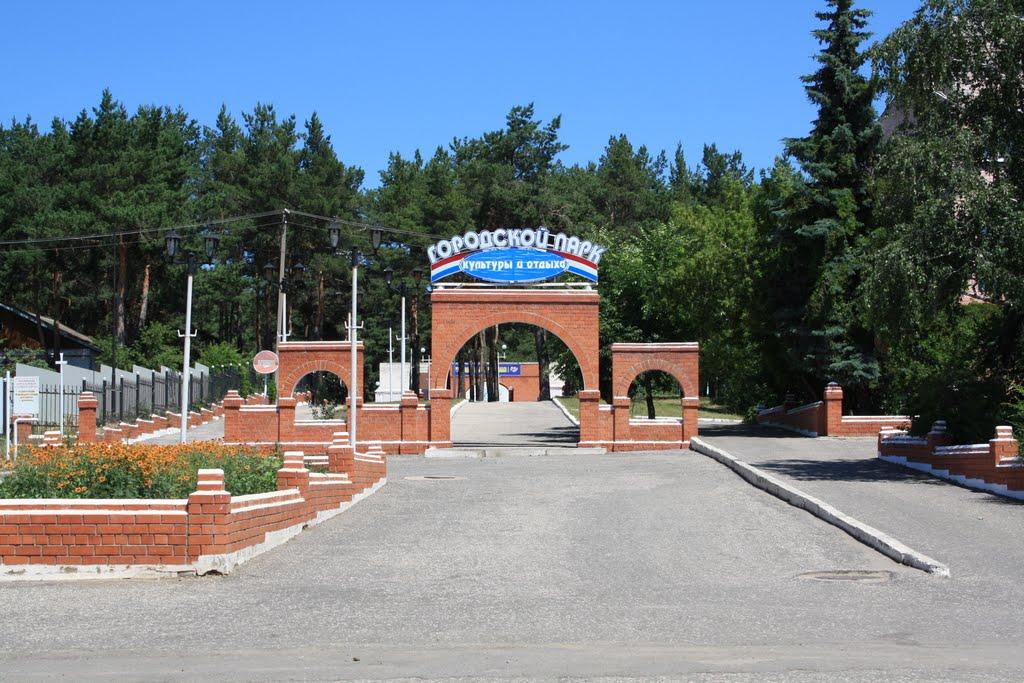 Вход в городской парк 2009г., Жирновск