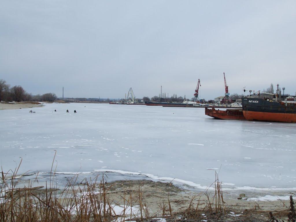 Затон зимой 2010года, Калач-на-Дону