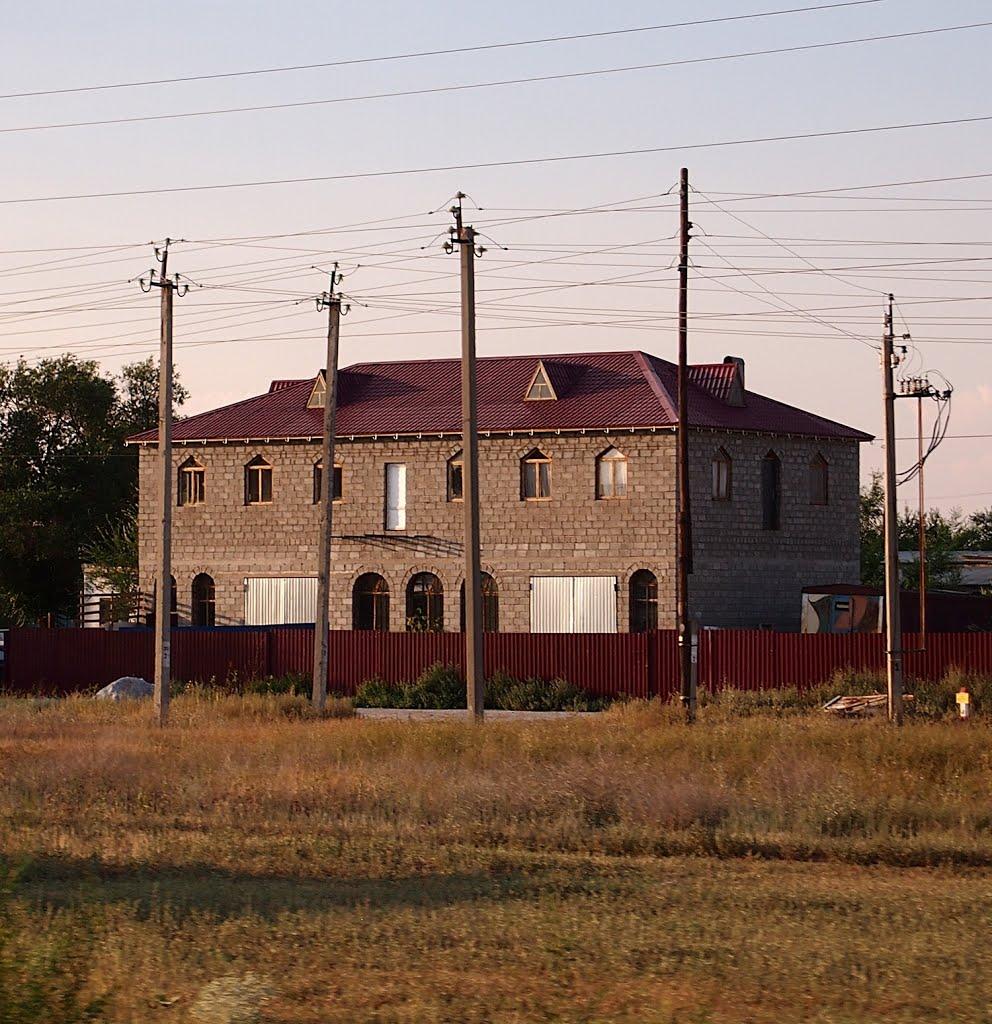 Современный замок. The modern castle., Средняя Ахтуба