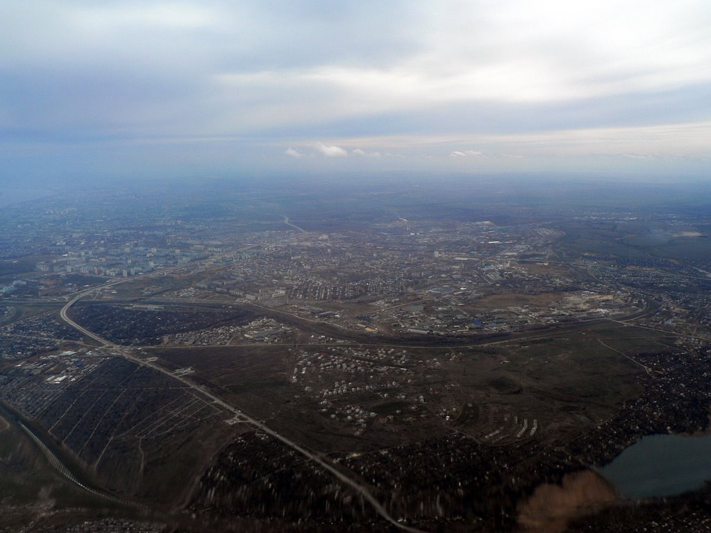 Approximately over Vodstroy settlement, Сталинград