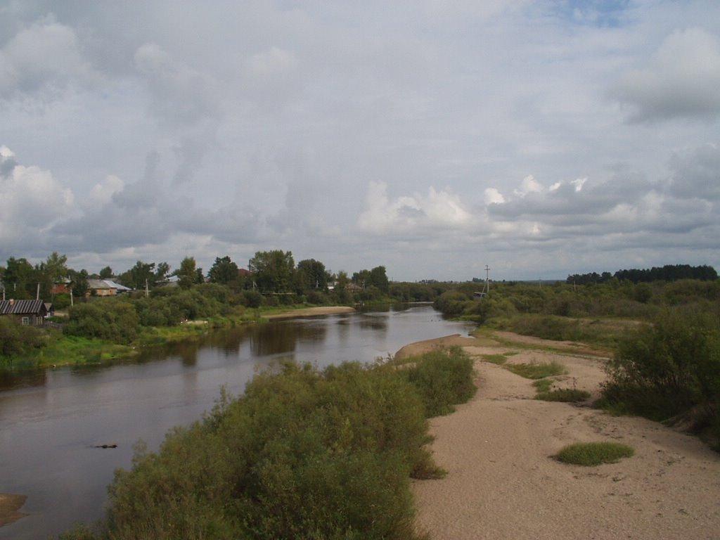 Вид с каменного моста, Верховажье