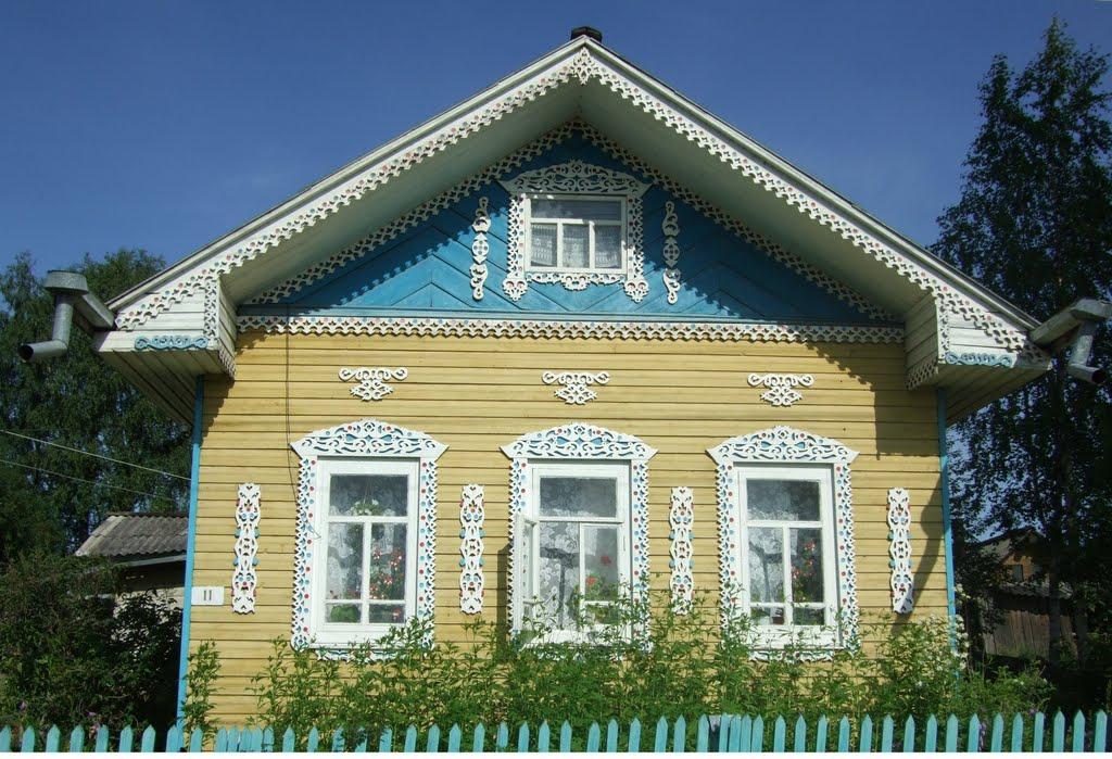 Возможно самый красивый дом в Верховажье, Верховажье