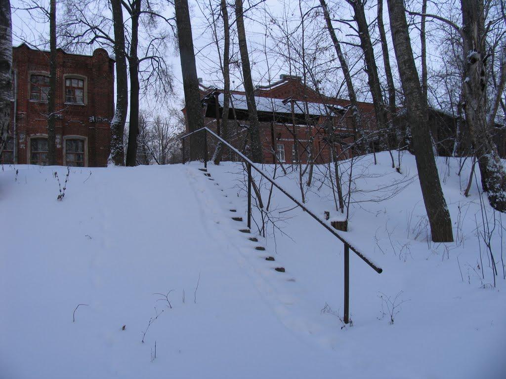 Заснеженная лестница. г.Череповец., Череповец