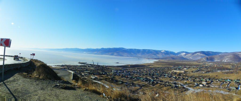 Вид на Култук и Байкал (утро), Култук