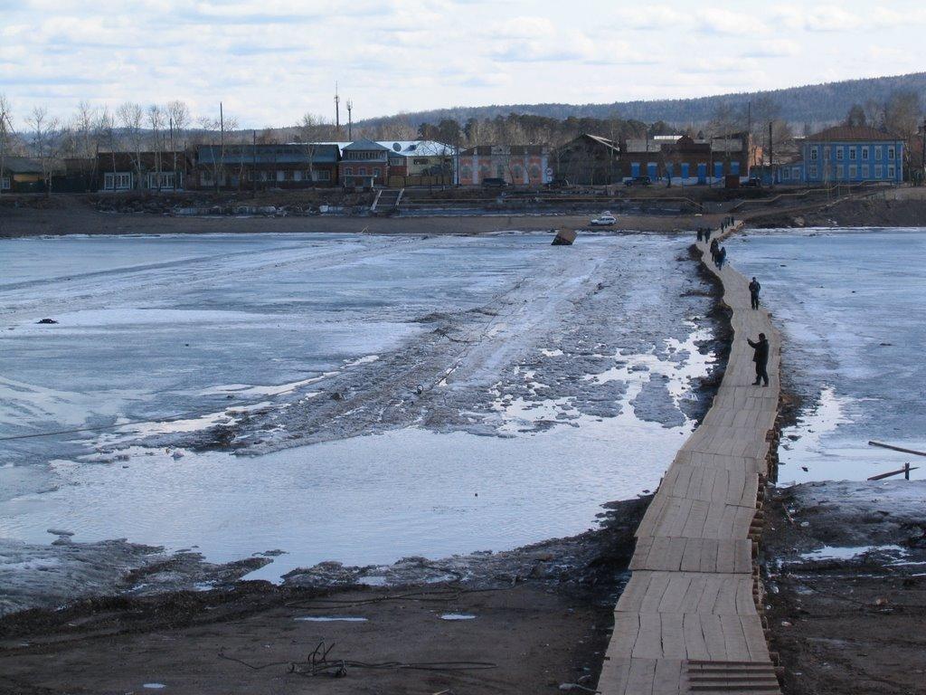 Весна 2008г. Переправа ледовая, Киренск