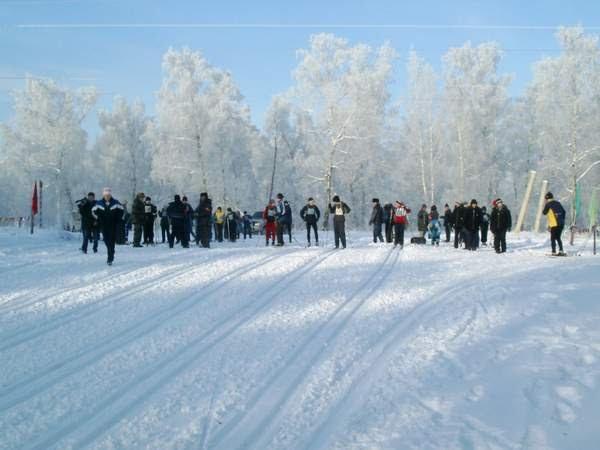 """Соревнование """"Лыжня для всех"""" на лыжной базе, Черемхово"""