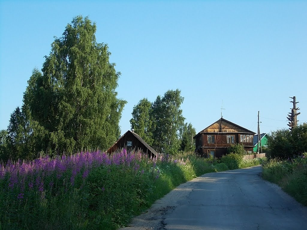 Летним утром в деревне, Деревянка