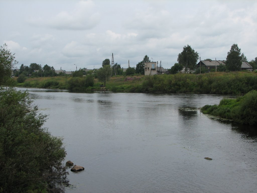 Олонец. Слияние рек Олонки и Мегреги (Olonka & Megrega rivers confluence in Olonets), Олонец