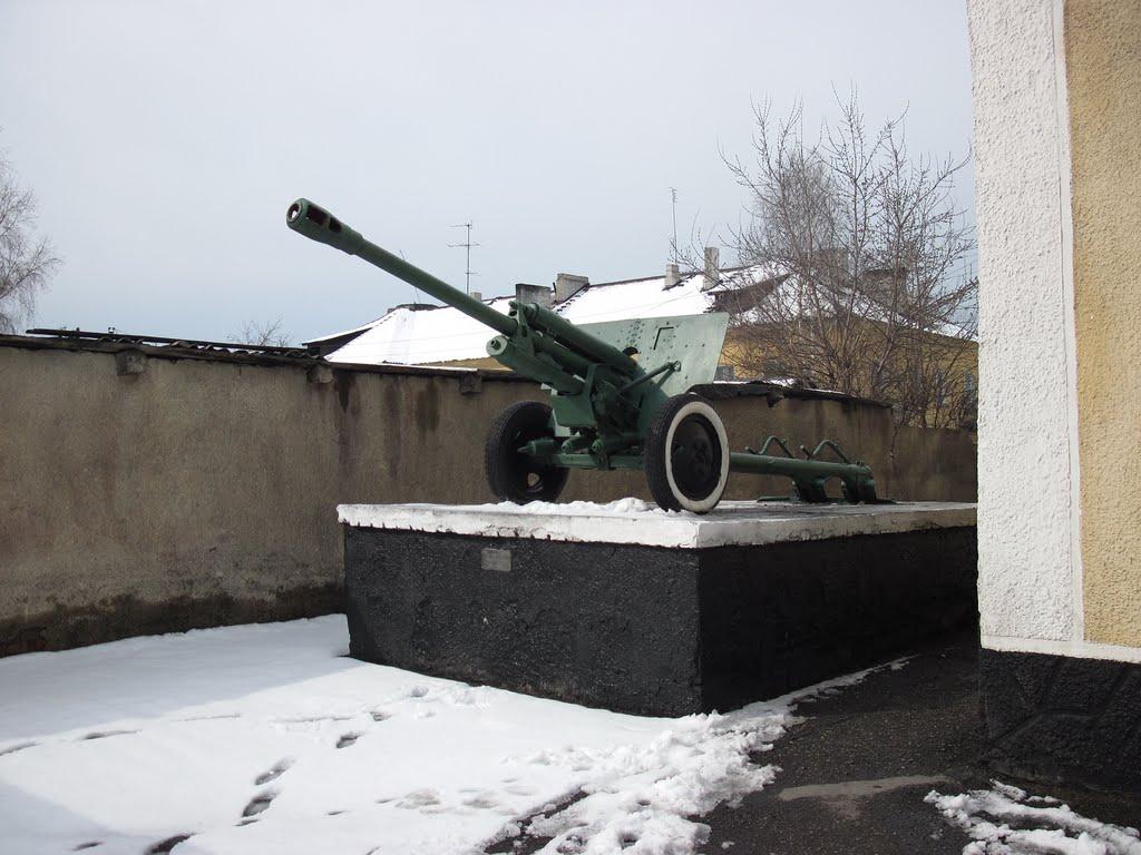 Орудие у военкомата, Киселевск
