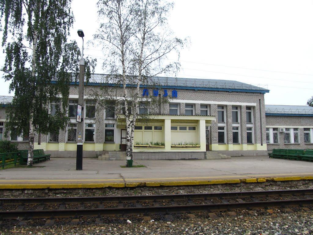 Вокзал со стороны ж/д путей, Луза