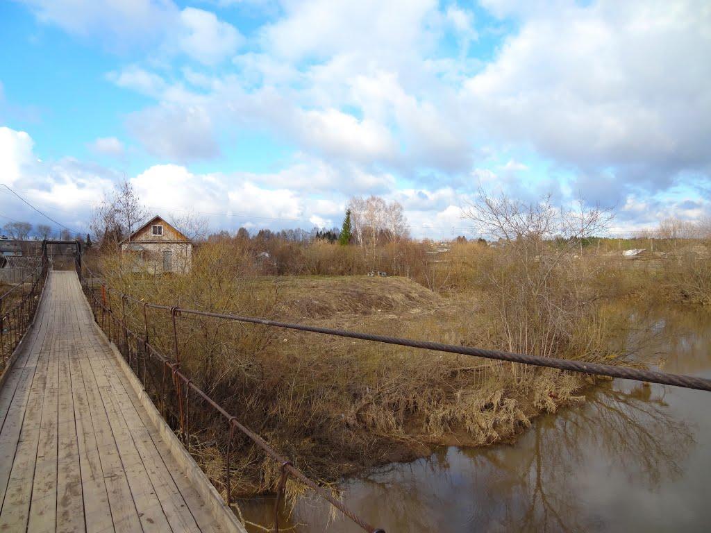 Подвесной мост р. Суна, Суна