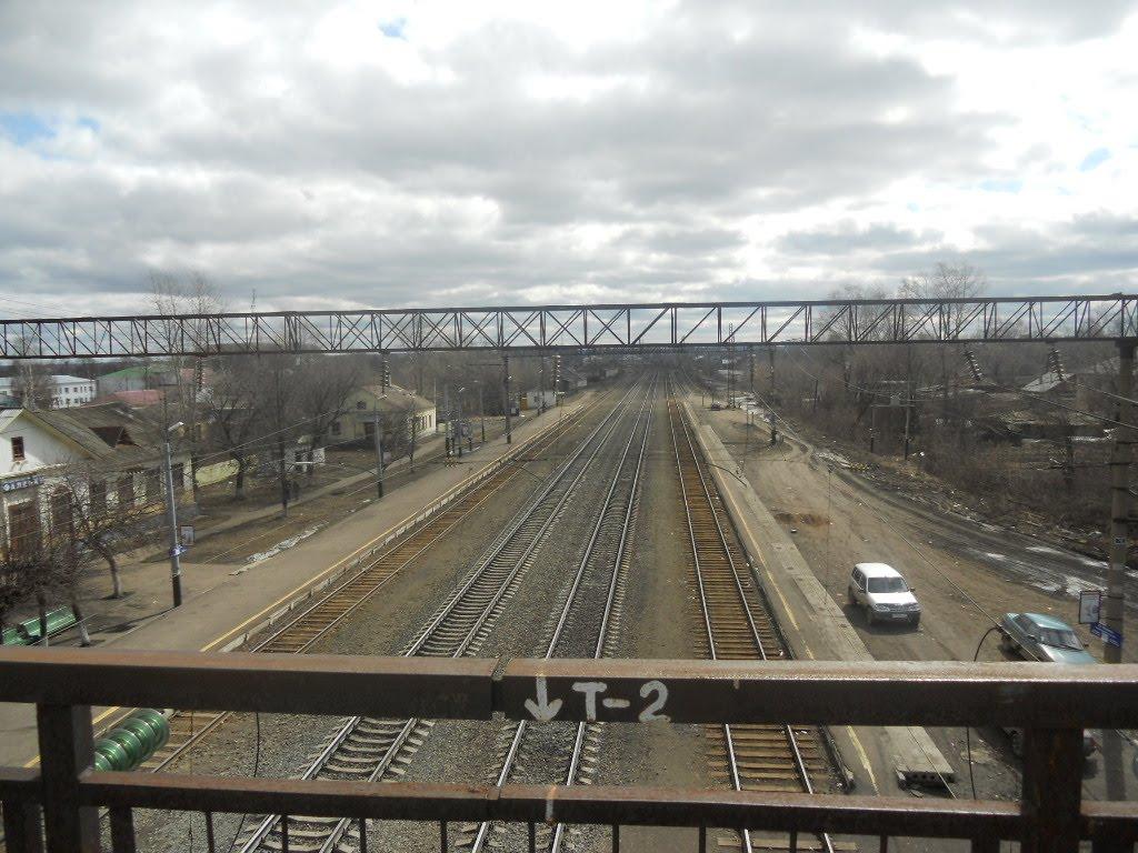 Вид на Восток с ж/д моста, Фаленки