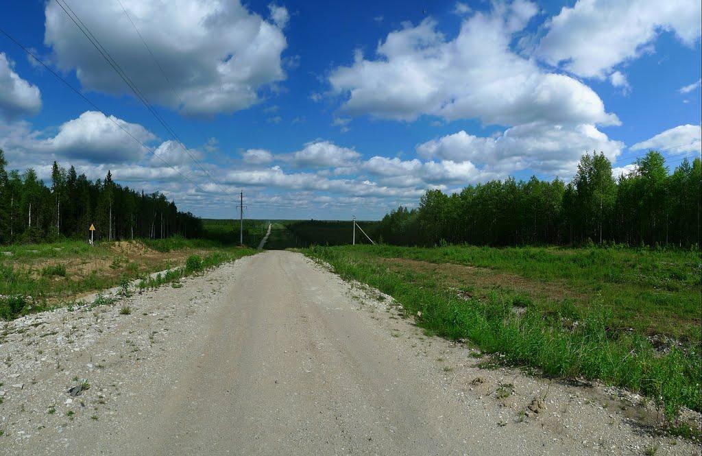 Дорога вдоль газопровода :: Road along a gas pipeline, Водный