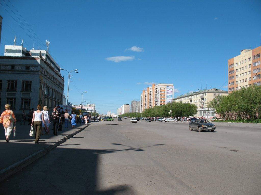 Ул. Ленина ( июль 2008 ), Воркута