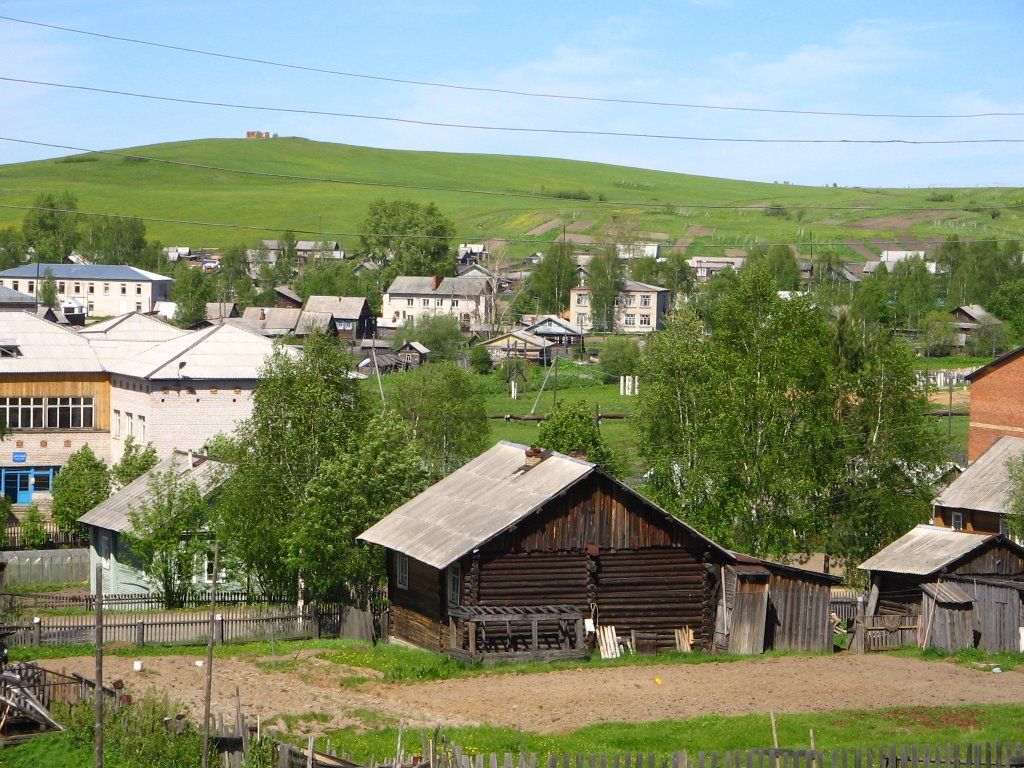 с.Койгородок (вид от гостиницы на курган), Койгородок