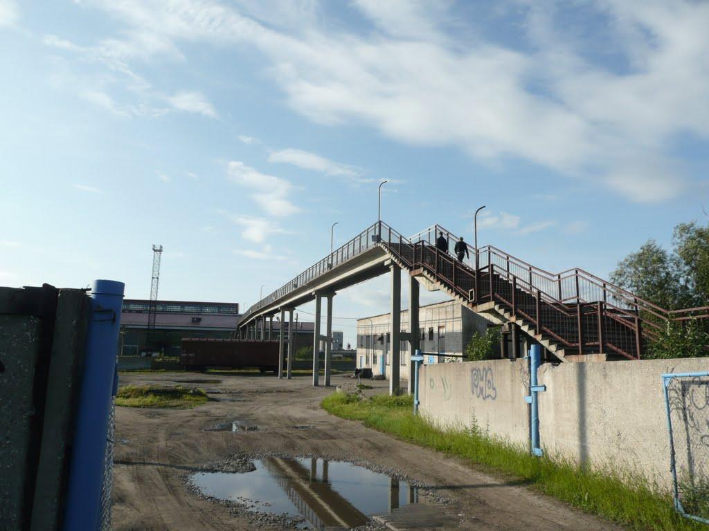 Пешеходный мост через ж.д. пути, Печора