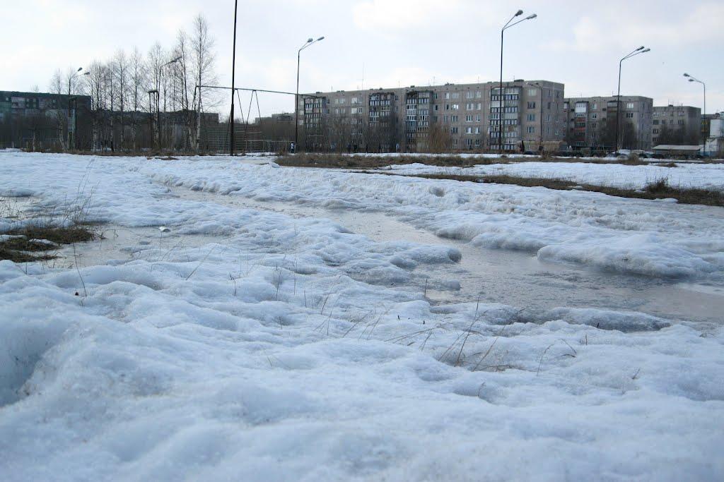 Местами снега еще много, несмотря на весну, Печора