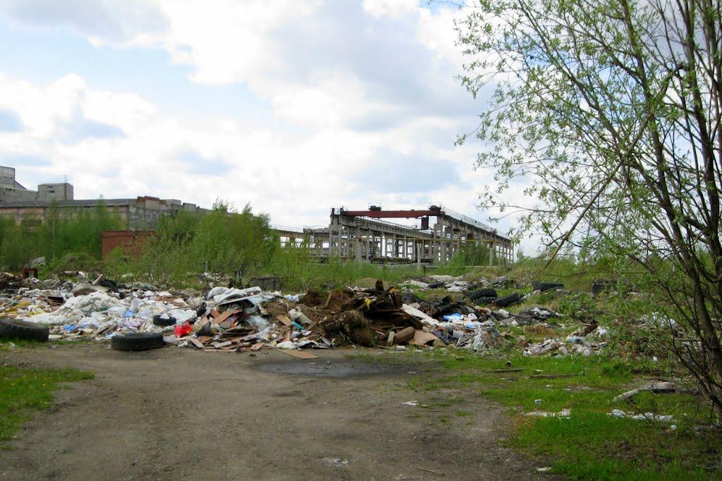 Свалка на месте бывшего асфальтобетонного завода, Печора