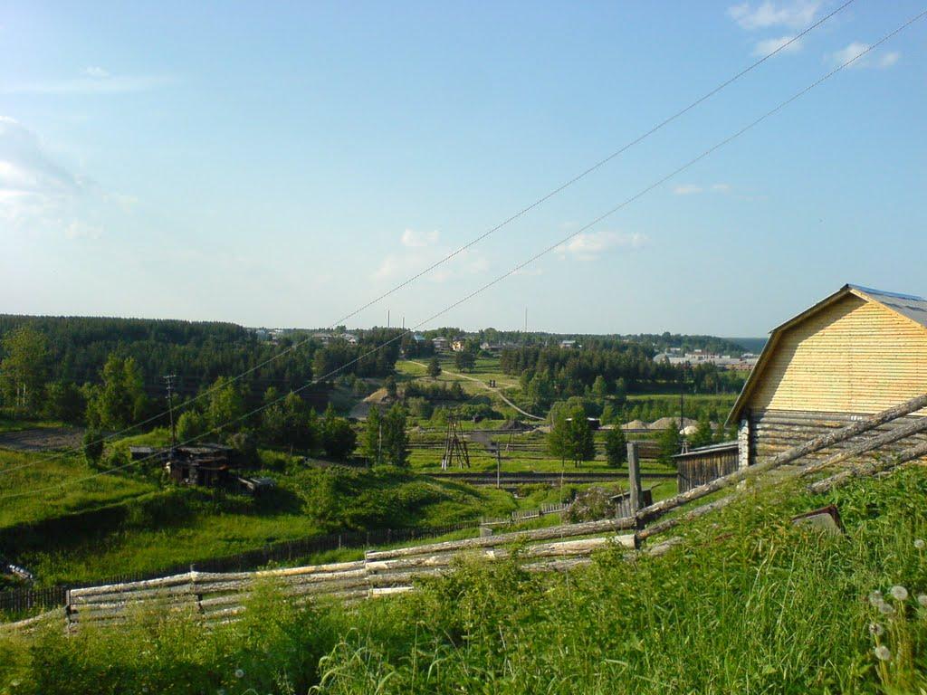 Вид на поселок Усть-Ухта, Сосногорск