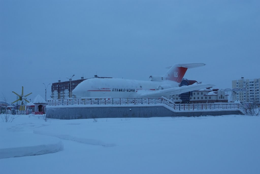 Самолет в Усинске, Усинск