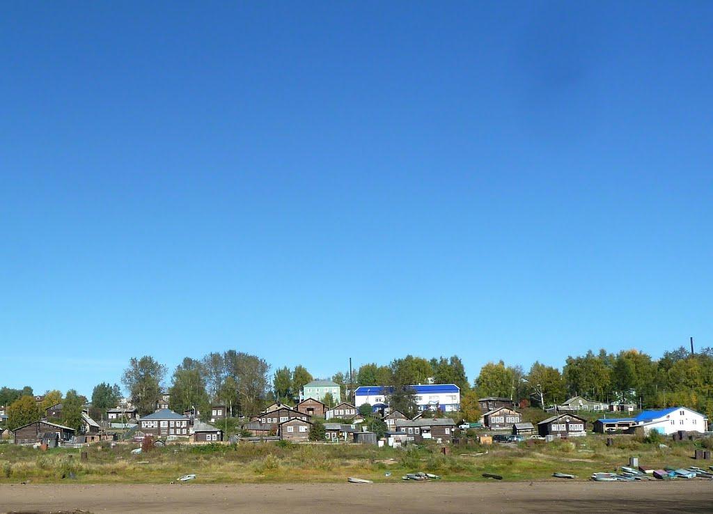Село Усть-Кулом, вид с реки Вычегды, Усть-Кулом