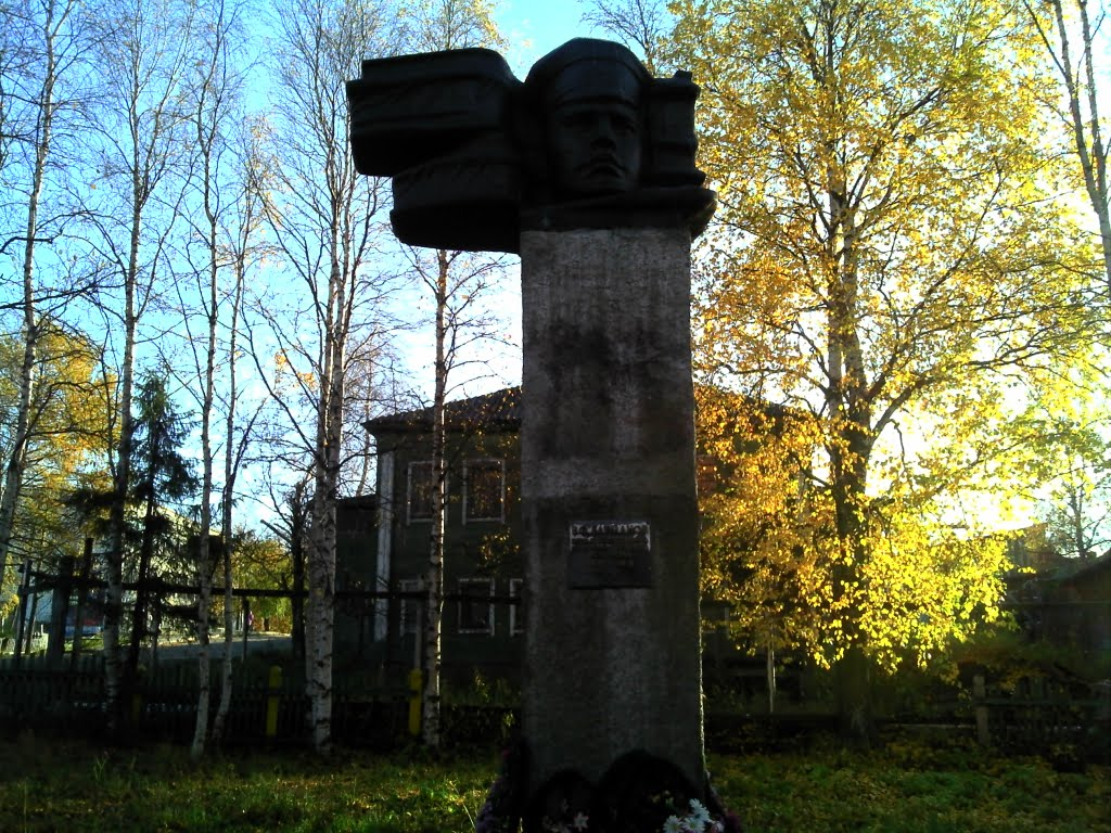Памятник В.Ф. Батманову первому председателю Печорского уездного исполкома, Усть-Цильма