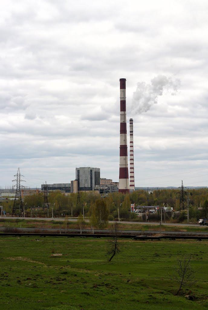 Вид на ГРЭС, Волгореченск