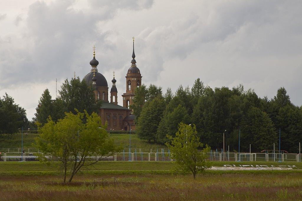 Temple in Volgorechensk, July-2009, Волгореченск