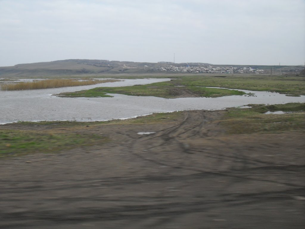 река Кача вне русла, Емельяново