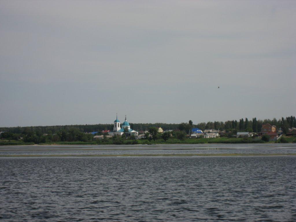 Вид с пляжа в селе Казинка, Казинка