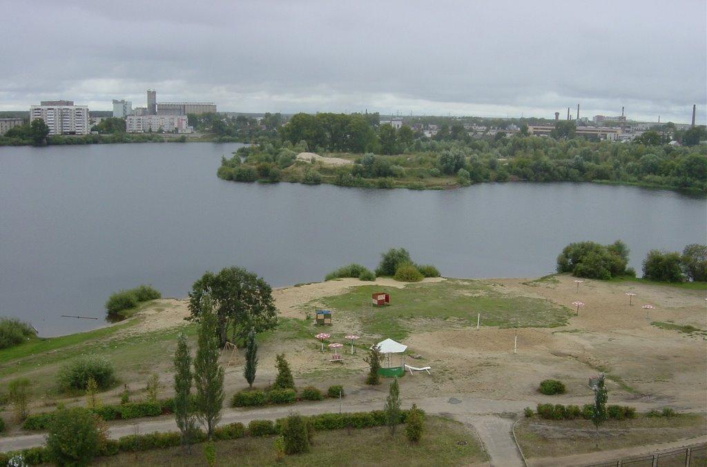 a river Kokshaga in Йошка́р-Ола́, Йошкар-Ола