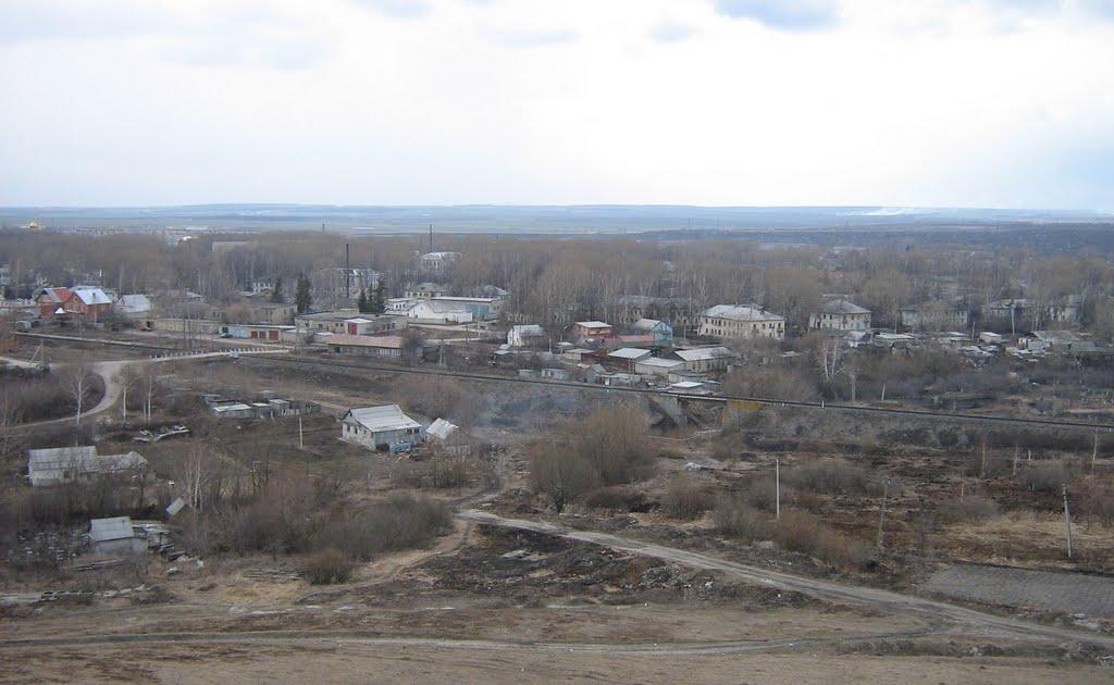 Панорама поселка Комсомольский, Комсомольский