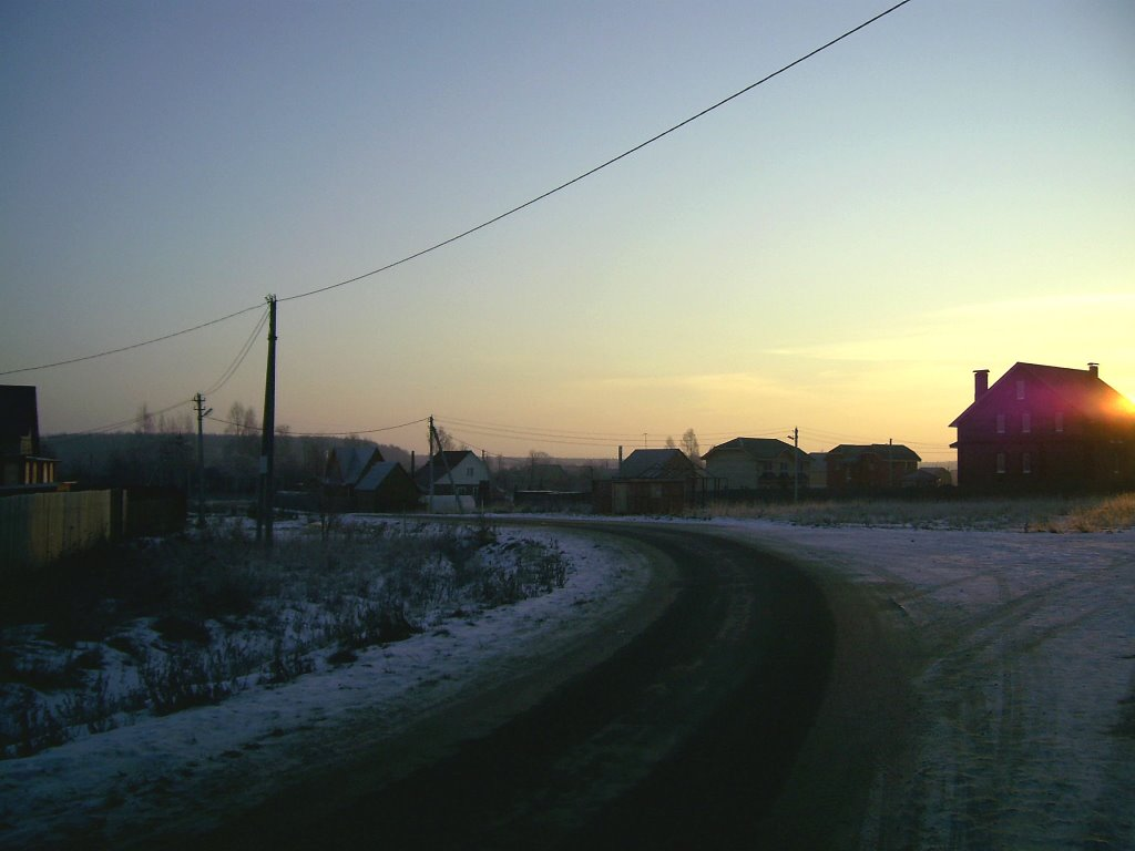 зима в буняково, Востряково