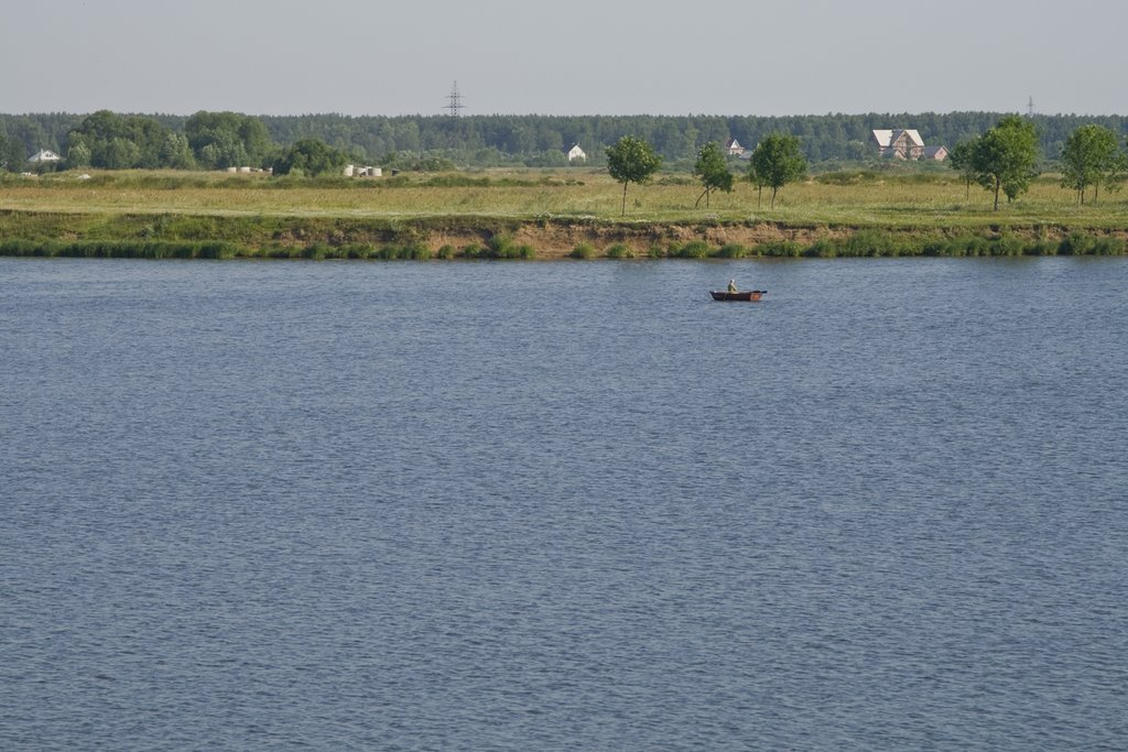 Dubna, Volga river, July-2008, Дубна