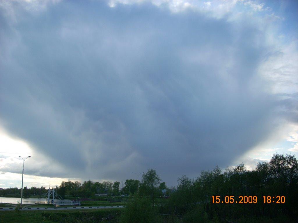 Жуткое облако/Terrible cloud over Dubna., Дубна