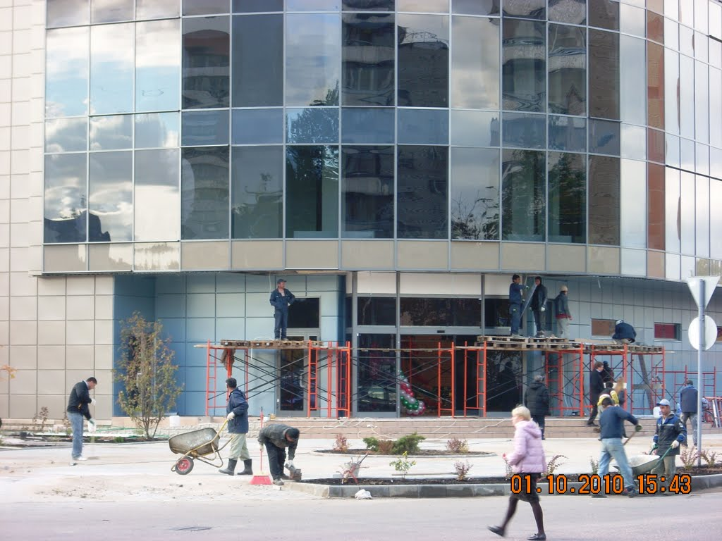 Дубна. Новый супермаркет. Подготовка к открытию. Последние штрихи./Dubna. A new supermarket. Preparation for opening. Finishing touches., Дубна