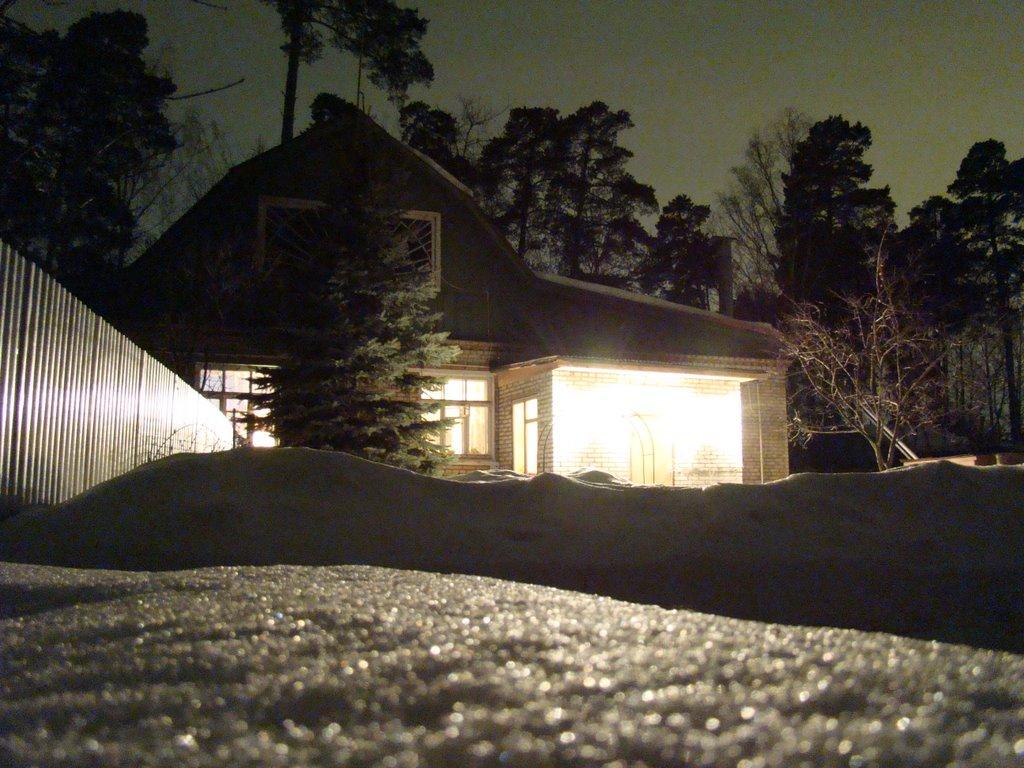 Дом, ночь, зима, Жуковский