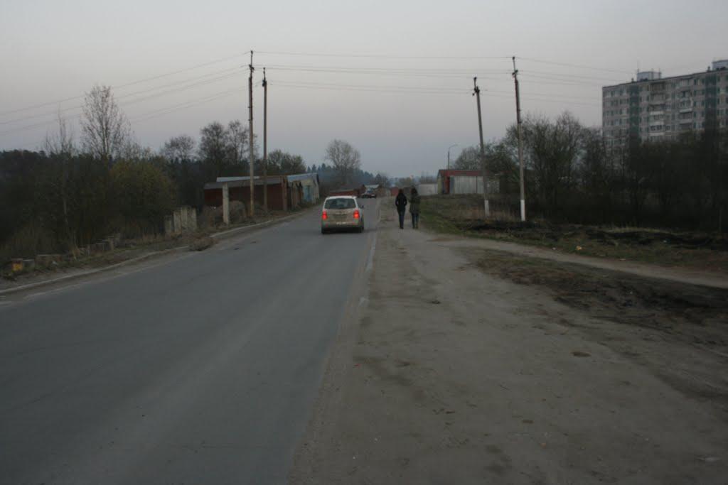 Дорога по окраине Глебовского в Брыково, Красный Ткач