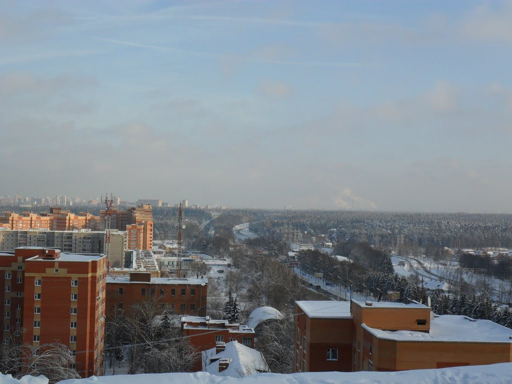 Вид на Минское шоссе (на Москву), Лесной Городок